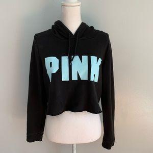 Victoria's Secret PINK | Black Cropped Hoodie